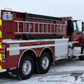 Rear Right Side View of a Toyne Pumper Tanker on a snow covered road