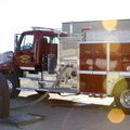 Left Side View of Dickinson Rural Fire Department's Toyne Pumper Tanker