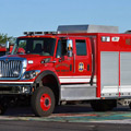 Front Left Side View of Mulvane Fire & Rescue's Toyne Rescue Fire Truck.